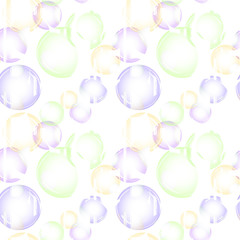 Seamless abstract geometric pattern.bubbles on white background.