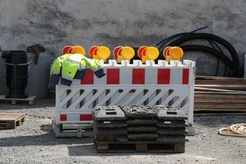 Absperrung für Baustellen