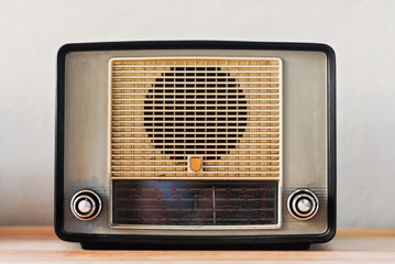 Vintage radio, studio shot