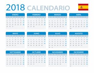 Calendar 2018 - Spanush Version