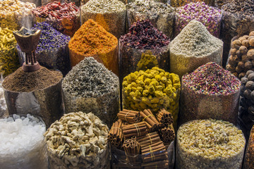 Spices for sale in souk