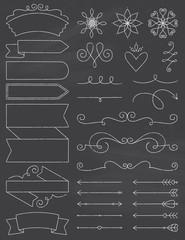 Chalkboard Doodle Design Elements