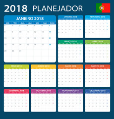 Planner 2018 - Portuguese Version