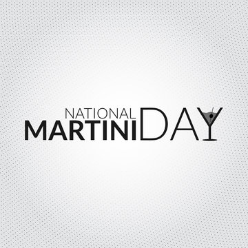 National martini day card illustration