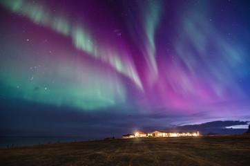 Foto op Plexiglas Noorderlicht colorful northern lights