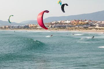 Kitesurf in Tarifa, Spain.