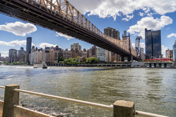 View of 59th Street Bridge, Manhattan Skyline From Roosevelt Island