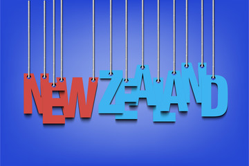 The word New Zealand hang on the ropes