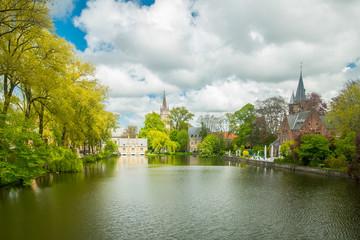 Bruges city heritage building for tourist people visit