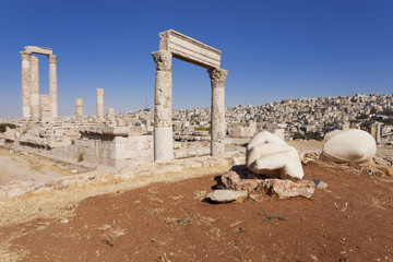 Hand of Hercules at Amman Citadel in Jordan