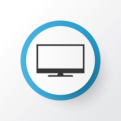 Monitor Icon Symbol. Premium Quality Isolated Display Element In Trendy Style.