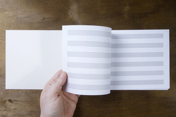 Music booklet or notes paper