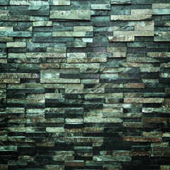 Wall Mural - dark modern brick wall for background and design