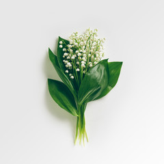Deurstickers Lelietje van dalen Bouquet Lily Of The Valley