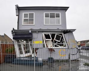 Christchurch Earthquake - House On A Lean