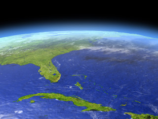 Cuba and Florida from space