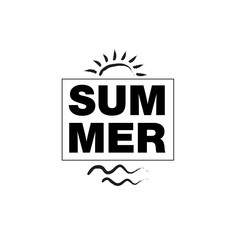 Summer  graphic lettering