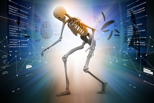 Skelton with virus