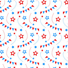 Independence day of America festive seamless pattern background