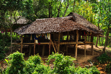 Karen village,Beautiful nature,Sufficient lifestyle Tha Song Yang District, Tak Province, Thailand.