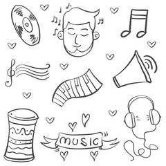 Doodle of music object vector art