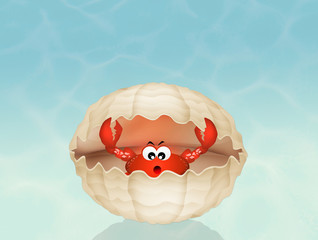 crab in the shell