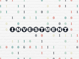 Finance concept: Investment on wall background