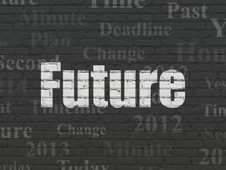 Time concept: Future on wall background