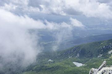 Tatra peaks in the clouds.