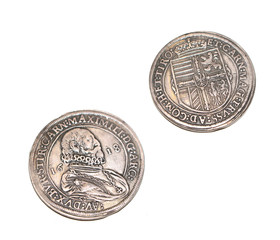 Silver Taler Maximili Maximilian 1618 Coin