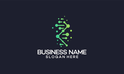 Abstract and modern DNA / Genetic Logo template designs, vector illustration