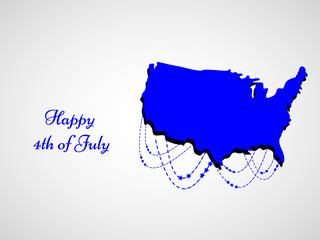 Illustrtion of U.S.A Independence day background