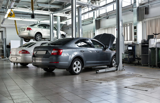 Cars for repair service station