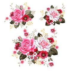 3 rustic bouquets