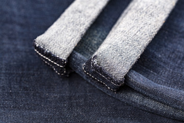 Blue jeans folded hemmed