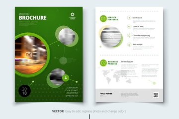 Corporate business annual report cover, brochure or flyer design