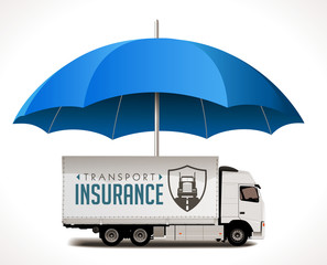 Transport and logistics insurance concept