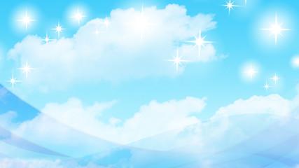 空 雲 背景素材 輝き