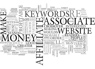 YOU AS AN ASSOCIATE AFFILIATE CAN CHANGE YOUR LIFE OR NOT TEXT WORD CLOUD CONCEPT