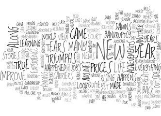 YEAR IN REVIEW TOP NEWS STORIES OF TEXT WORD CLOUD CONCEPT