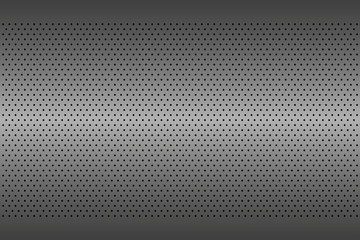 Perforated metal texture, aluminium grating, abstract background, vector illustration