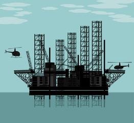 Big oil platform