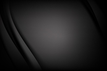 Abstract background dark and black carbon fiber with curve and layered overlap element vector illustration 002