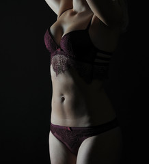 female model breast and dessous 1