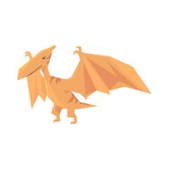 Pterosaurs dinosaur character, Jurassic period animal vector Illustration