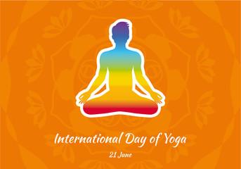 International Day of Yoga vector. Vector illustration of yoga man. Important day