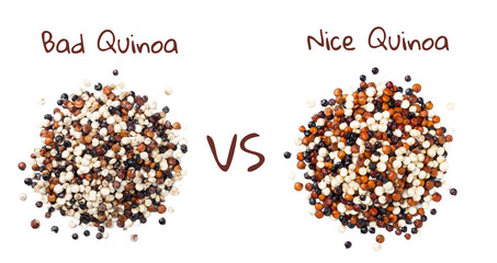 bad quinoa VS nice quinoa