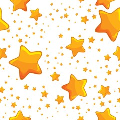background with stars large and small gold star