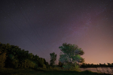 electricity wires going to Milky Way