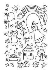 illustration for children design